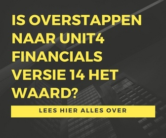Overstappen naar Unit4 Financials (Coda) Versie 14